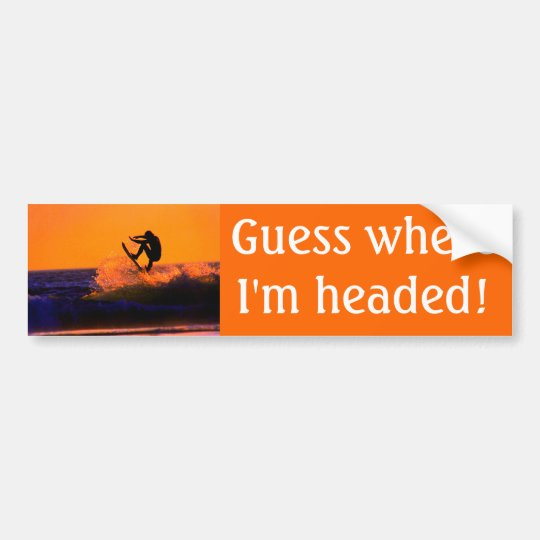 Sunset Surfer Bumper Sticker