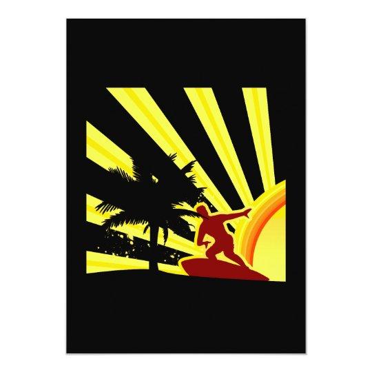 Sunset Surfer Card