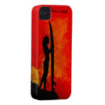 Sunset Surfer Girl iPhone 4 Case-Mate Cases