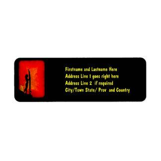 Sunset Surfer Girl Custom Return Address Labels