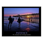 Sunset Surfer Patience Poster