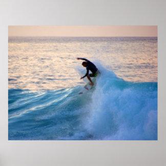 Sunset Surfer Print