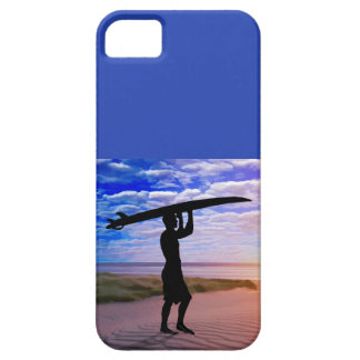 Sunset Surfer Sand and Clouds iPhone 5 Covers