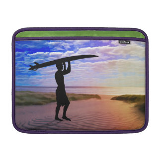 Sunset Surfer Sand & Clouds MacBook Air Sleeve