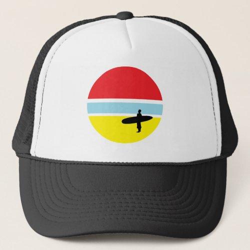 Sunset Surfer Trucker Hat
