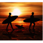Sunset Surfers Photo Cut Outs