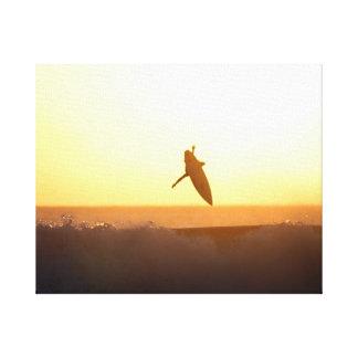 Sunset Surfing Aerial Bali Canvas