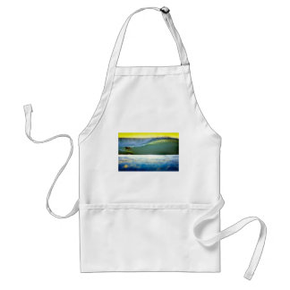 Sunset surfing tropical paradise waves apron