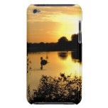 Sunset Swan Lake orange yellow Barely There iPod Case