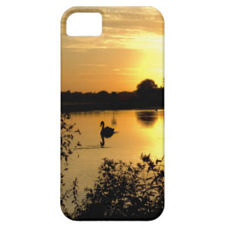 Sunset Swan Lake orange yellow iPhone 5 Cases