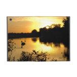 Sunset Swan Lake orange yellow Case For iPad Mini
