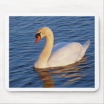sunset swan mouse pad