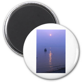 Sunset Swim 2 Inch Round Magnet