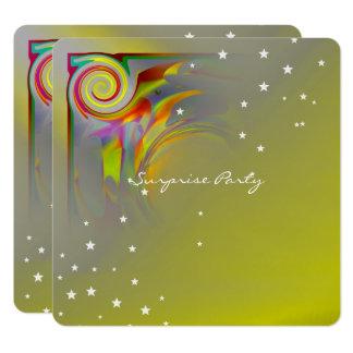 Sunset Swirl with Birds Card