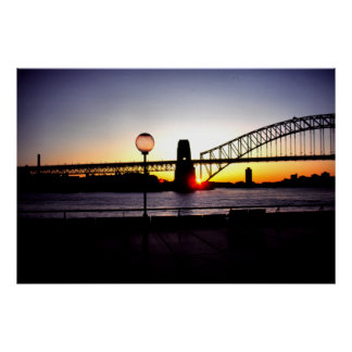 Sunset, Sydney Harbour Bridge Poster