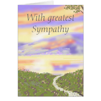 Sunset Sympathy card, add aditional message Card