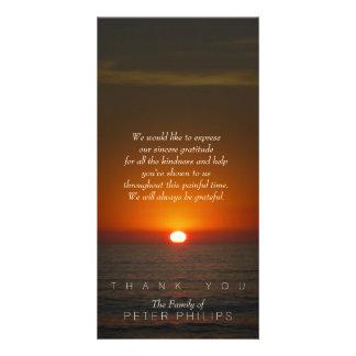 Sunset Sympathy Thank You Photo Card