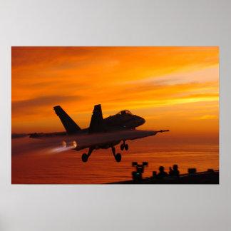 Sunset Takeoff Poster