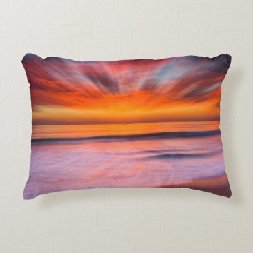 Sunset Tamarack Beach | Carlsbad, CA Decorative Pillow