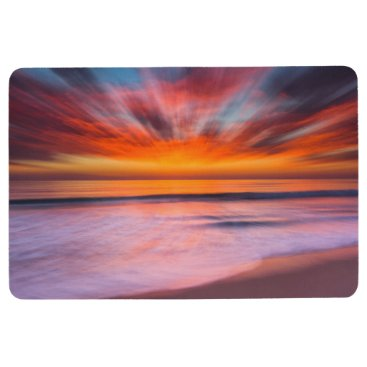 Sunset Tamarack Beach | Carlsbad, CA Floor Mat