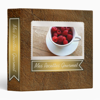 Sunset Tan Look of Leather Recipe Collection Binder