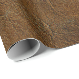 Sunset Tan Look of Leather Wrapping Paper