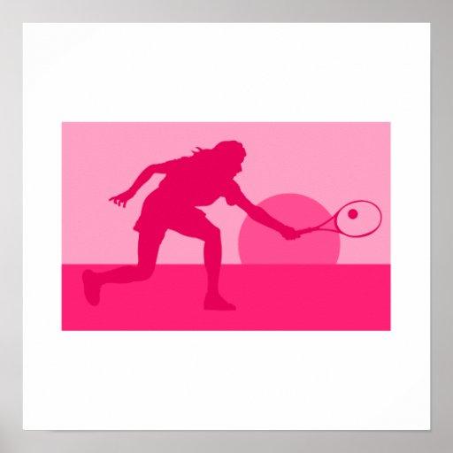 Sunset Tennis Poster