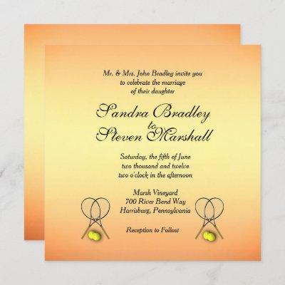 Sunset Tennis Wedding Invitations