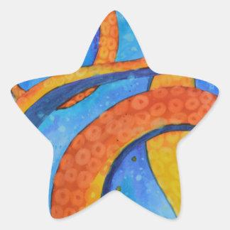 Sunset Tentacles Star Sticker