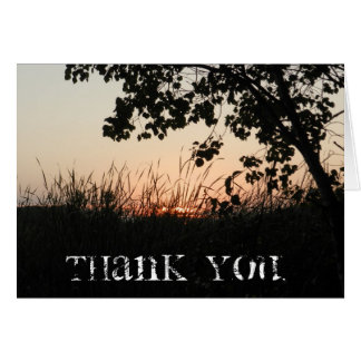 Sunset Thank You Card