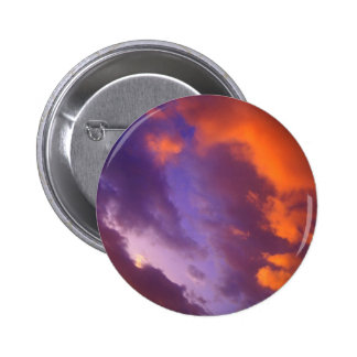 Sunset The Blue Divide Pinback Button