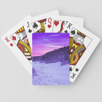 Sunset Themed, A Passage Covered In Snow Passing T Poker Deck