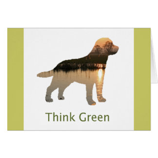 Sunset Think Green Note Card