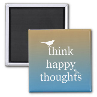 Sunset Think Happy Magnet