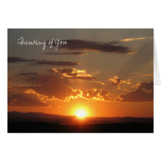 Sunset, Thinking of You Card