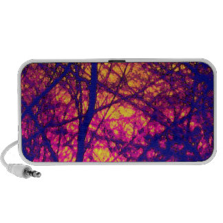 Sunset Through Branches Doodle Speaker