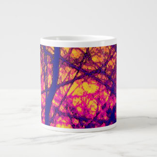 """Sunset Through Branches"" Large Coffee Mug"