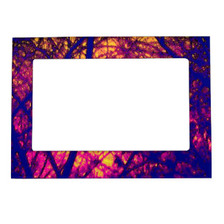 Sunset Through Branches Magnetic Frame