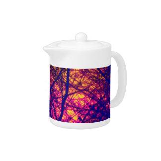Sunset Through Branches Teapot