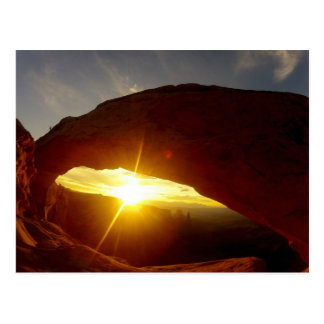 Sunset through Double O Arch, Arches National Park Postcard