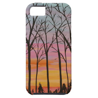 Sunset through Fall Trees iPhone SE/5/5s Case