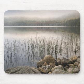 Sunset through fog over Upper Hadlock Pond Mouse Pad