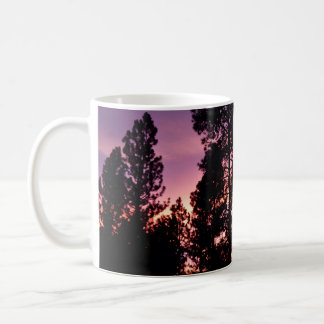 Sunset Through the Pines Coffee Mug