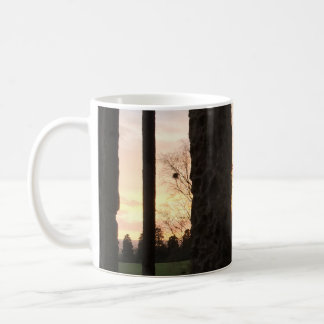 Sunset Through the Ruins of a Medieval Window Coffee Mug