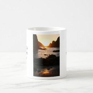 Sunset through the Sea Stacks Coffee Mugs