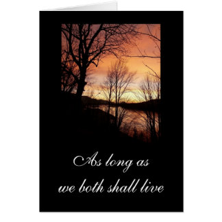 Sunset Through The Trees Card
