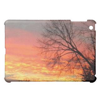Sunset through the Winter Trees iPad case