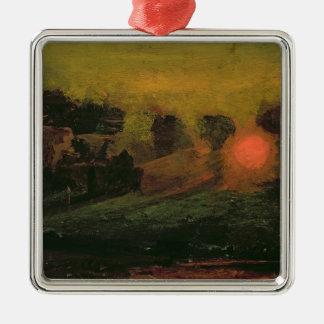 Sunset through Trees, c.1855 Metal Ornament