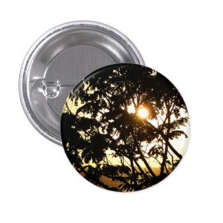 Sunset Through Trees I Tropical Photography Button