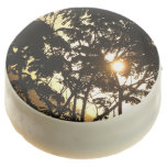 Sunset Through Trees I Tropical Photography Chocolate Dipped Oreo